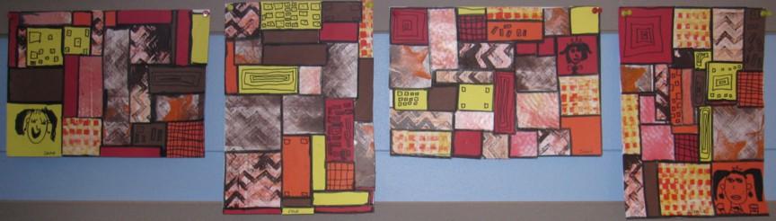 Pavage carrés/rectangles + graphisme