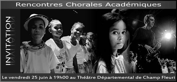 Invitation pour les rencontres chorales académiques du primaire de juin 2010