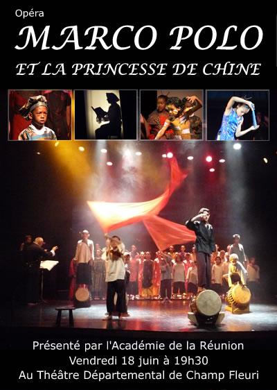 Affiche du spectacle Marco Polo et la princesse de Chine