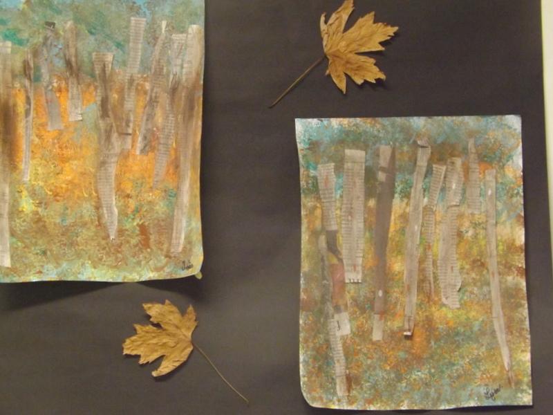 """""""La forêt de bouleaux de Klimt"""""""