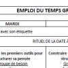 Capture d'écran pour Exemple d'emploi du temps de grande section