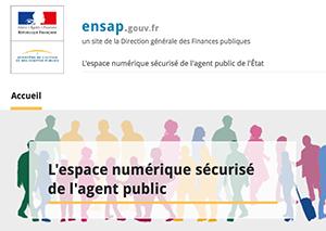 L'espace numérique sécurisé de l'agent public : ensap.gouv.fr