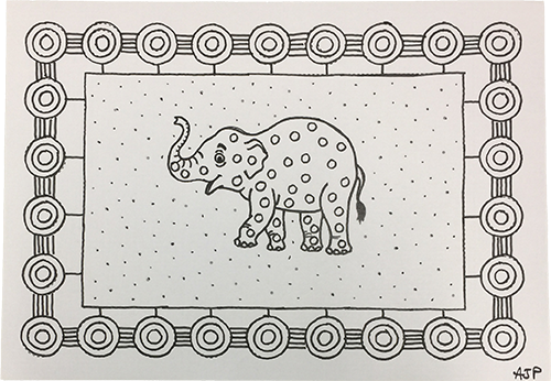 [Langage] Graphisme décoratif : un éléphant