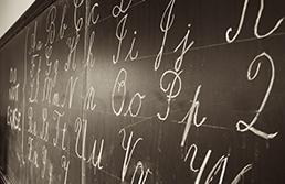 Affichages dans les trois écritures