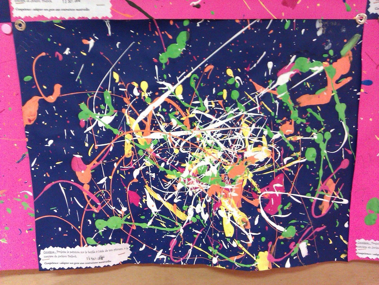 Projections à La Manière De Jackson Pollock Autour De à