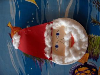 visage de père Noël