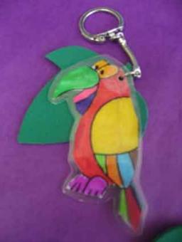Porte clé perroquet