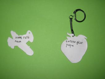 Porte-clés en plastique fou
