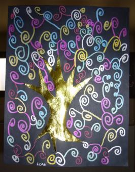 à la manière de Klimt, GS