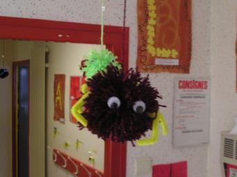 araignee : petit bricolage pour halloween