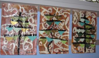Sapins à la manière de Klimt