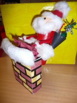 père Noel et sa cheminée