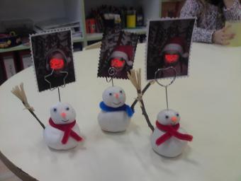 bonhomme de neige porte-photo