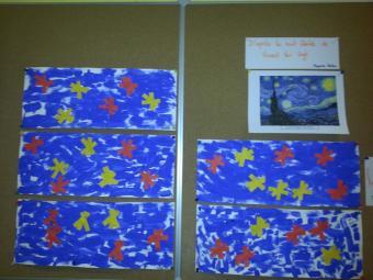 La nuit étoilée de Van Gogh en moyenne section