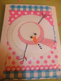 carte bonhomme neige