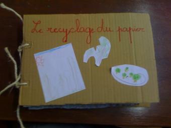 Livre en papier recyclé