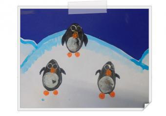 Pingouins sur banquise