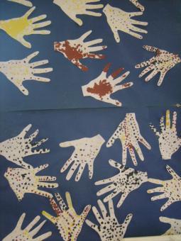 à la manière de l'art aborigène
