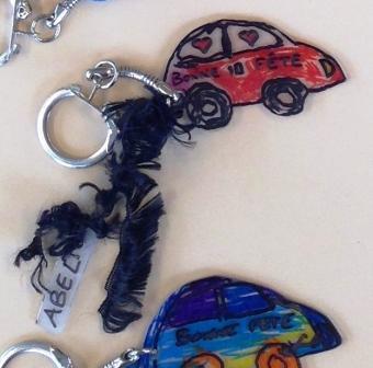 Porte-clés plastique fou