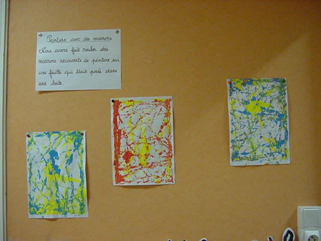 Peinture Avec Des Marrons Agir S Exprimer Comprendre A Travers Les Activites Artistiques Forums Enseignants Du Primaire