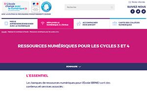 Banque de ressources numériques pour l'école
