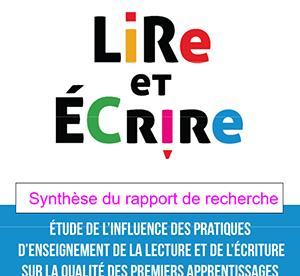 """Synthèse du rapport """"Lire et écrire"""""""