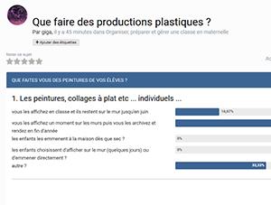 Que faire des productions plastiques ?