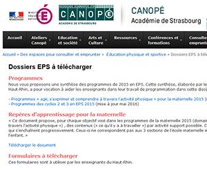 CANOPE : Dossiers EPS à télécharger