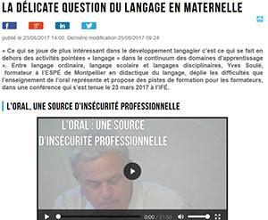 La délicate question du langage en maternelle