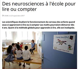 Des neurosciences à l'école pour lire ou compter