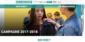 Non au harcèlement : campagne 2017-2018