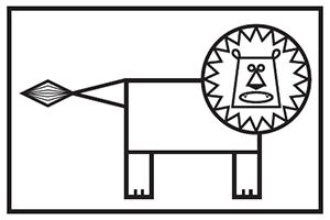 [ELM] Découpage et collage : un lion
