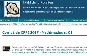 Corrigé du CRPE 2017 - Mathématiques groupement 1