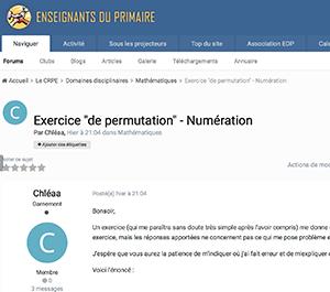 """Exercice """"de permutation"""" - Numération"""