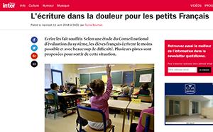 L'écriture dans la douleur pour les petits Français