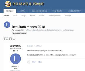 Resultats rennes 2018