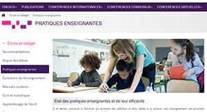 Ecrire et rédiger - pratiques enseignantes - CNESCO