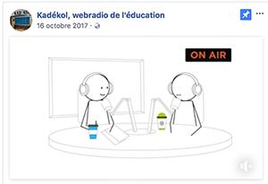 Kadékol : webradio de l'Education