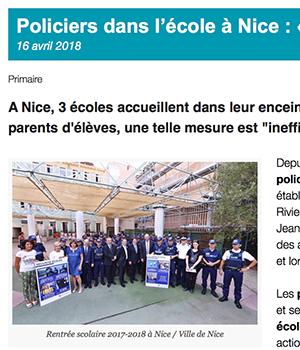 Nice : des policiers municipaux dans les écoles