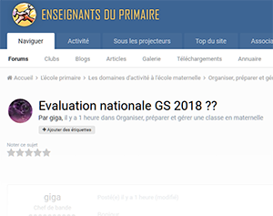 Evaluation nationale GS 2018 ??