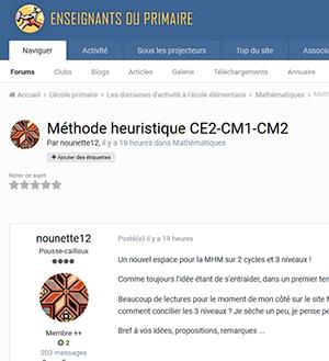 Méthode heuristique CE2-CM1-CM2