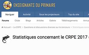 Statistiques concernant le CRPE 2017 (Note d'information de la DEPP de juin 2018)