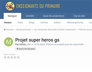 Projet super heros gs