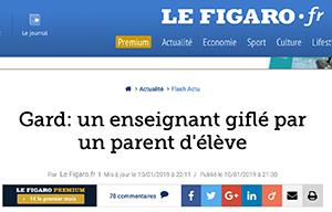 Un enseignant giflé par un parent d'élève après avoir confisqué le téléphone de son fils