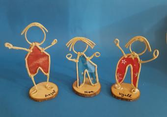 Sculptures en fil de fer