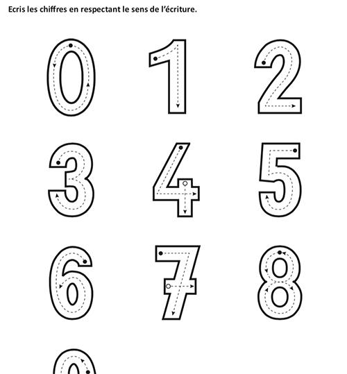 [OSP]Ecrire les chiffres de 0 à 9 (version corrigée)