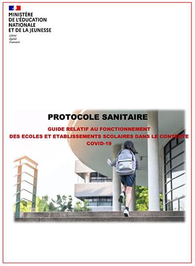 Guide / Protocole sanitaire pour la rentrée scolaire 2020-2021