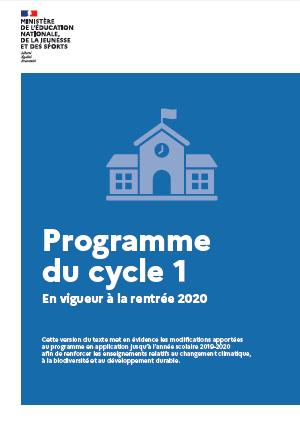 Modification des programmes - BO du 30 juillet 2020